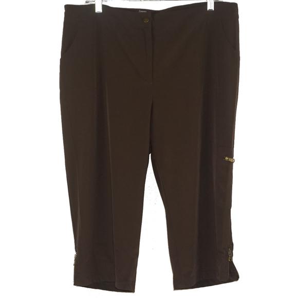 Chico's Pants - Zenergy by Chico's brown thin capris EUC 2